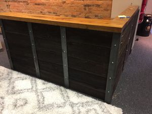 Rustic barn wood siding reception desk for Sale in Columbus, OH