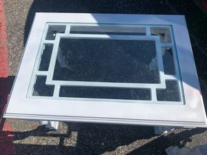 2 side wood tables glass top $200.00 cash only (serious buyers) for Sale in Dallas, TX