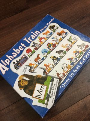 Melissa and Doug alphabet train floor puzzle. 10 feet long. Preschool for Sale in Buckeye, AZ