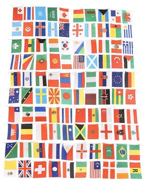 100 country flag banner party decoration NEW multicultural for Sale in Neosho, MO
