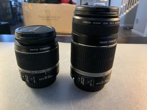 Canon 18-55mm & 55-250mm telephoto lenses for Sale in Suffolk, VA