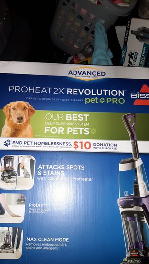 Bissell Proheat 2X Revolution pet pro for Sale in Tacoma, WA