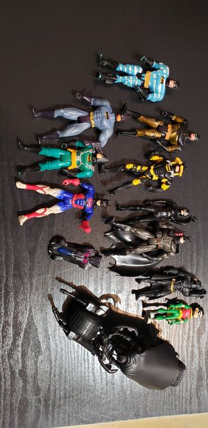Batman Figurines and Batcycle for Sale in Virginia Beach, VA