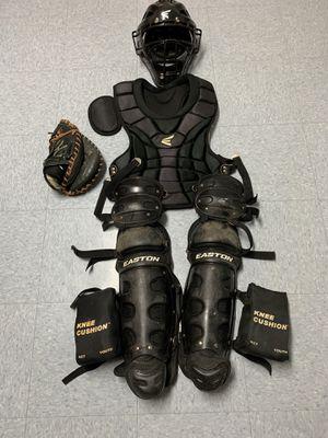 Easton Baseball Gears Catchers equipment helmet glove bag extra for Sale in Williston Park, NY