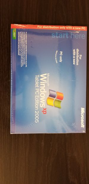 Microsoft Windows XP Tablet PC Edition 2005 for Sale in Campbell, CA