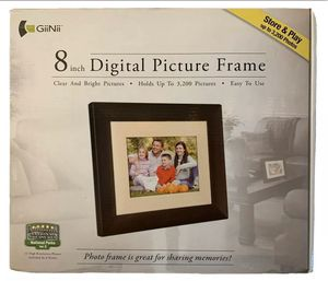 NIB Brown 8 inch GiiNii High Resolution Digital Picture Frame GN-818 for Sale in Rock Hill, SC