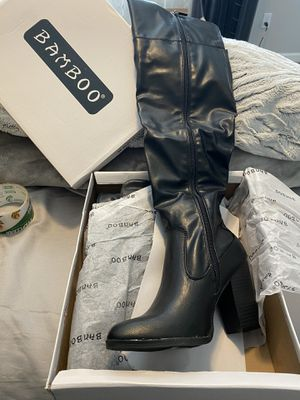 Lack thigh high boots size 8.5 for Sale in Spanaway, WA