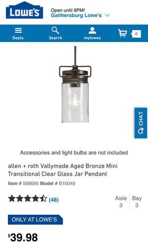Pendant light for Sale in Rockville, MD