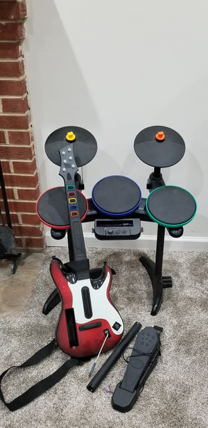 MTV Games Wii Rock Band Bundle: 2 Games, Guitar, Drums, Microphone for Sale in UNIVERSITY PA, MD