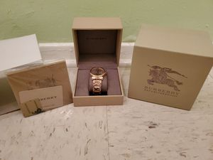 Brand New Women's Burberry Rose Gold Watch .. Great Christmas Gift !! for Sale in Brooklyn, NY