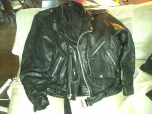 Bad a## biker jacket and chain wallet for Sale in Montrose, GA