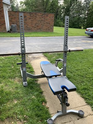 Nautilus Weight Bench and Squat Rack Combo for Sale in Akron, OH