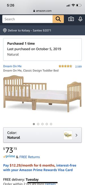 Toddler Bed frame for Sale in Santee, CA