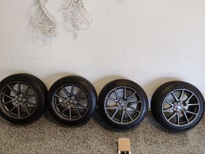 """Tesla Model 3 18"""" Aero wheels & Tires (includes TPMS) for Sale in Downers Grove, IL"""