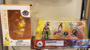 Pikachu gallery statue figurine and ant-man wasp disney figurines for Sale in Pflugerville, TX