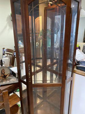 Corner curio cabinet for Sale in Dundalk, MD