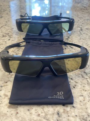 2 Samsung 3-D active glasses 🤓 MOVIE 3D for Sale in Trumbull, CT