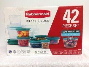 42 Pieces Set Plastic Juego de Recipientes Plásticos RubberMaid ART.1119344 for Sale in Doral, FL