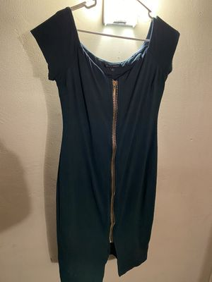 Blue/green dress with gold zipper for Sale in Bakersfield, CA