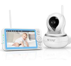 """-New-Video Baby Monitor 5"""" Display, 720P HD, Wireless, No Glow Night Vision, Two-Way Talk, Sound & Temperature Alert, 3000mAh Li-Battery for Sale in Syosset, NY"""