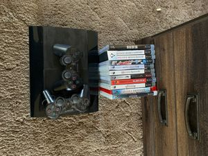 PS3 with games and 2 controllers for Sale in Gallatin, TN