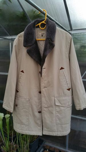 $500 beige men's jacket with sherpa collar for Sale in San Jose, CA