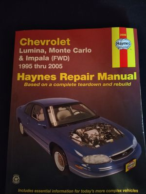 Haynes Chevrolet repair manual for Sale in Washington, IL