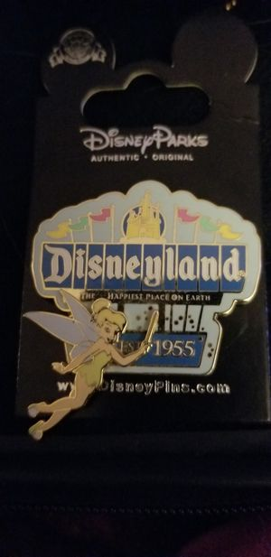 DISNEY PIN TINKERBELL AT DISNEYLAND SIGN 1955 for Sale in Beaumont, CA