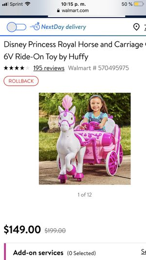 Princess carriage for Sale in San Antonio, TX