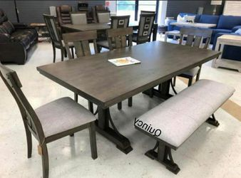 💲39 Down Payment🆕️ Quincy Grayish Brown Rectangular Dining Set byCrown Mark G456👆IN STOCK👆 for Sale in Alexandria,  VA
