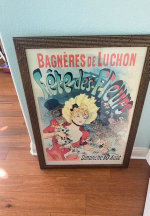 Large copy of a vintage poster for Sale in Carlsbad, CA