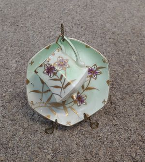 Antique Handpainted JB Betson's China Cup, Saucer & Display Hanger for Sale in Glen Raven, NC