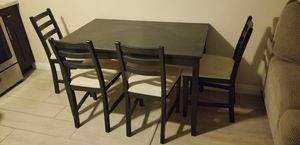 Black/Brown kitchen table w/ 4 chairs for Sale in San Diego, CA