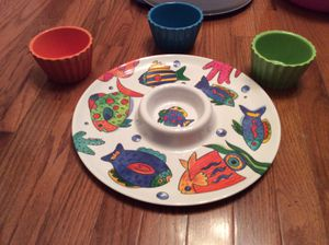 Fish platter and bowls for Sale in Virginia Beach, VA
