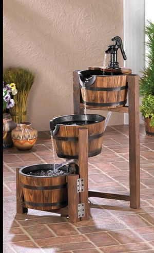 Outdoors Water Falls Country Motive Wooden Baskets for Sale in Bowie, MD