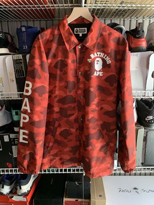Red Bape Camo Jacket - Size L for Sale in San Bruno, CA