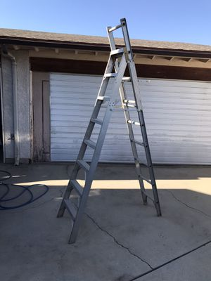 Werner combo 9' a- frame 14' extension ladder aluminum escalera 9-14 pies feet foot good condition in Ontario 91762 $120 for Sale in Chino, CA