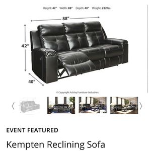 Ashley Brand Reclining Sofa for Sale in Kent, WA