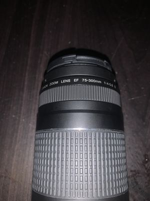 Canon EF 75-300mm f/4-5.6 iii Telephoto Zoom Lens for Sale in Venice, FL