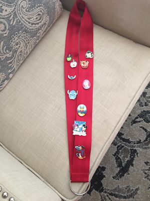 Extra Large Lanyard With 10 Disney Trading Pins for Sale in Murrieta, CA