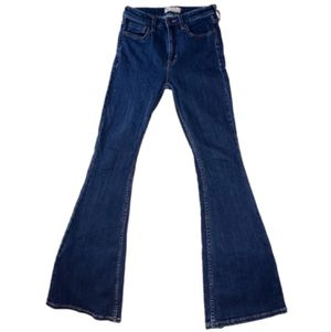 EUC Free People Jeans Size 25 Flare Wide Leg (Vintage-Style Boho) Blue Denim, Like Levis, Madewell, Anthropologie Bell Bottom for Sale in Canton, MI