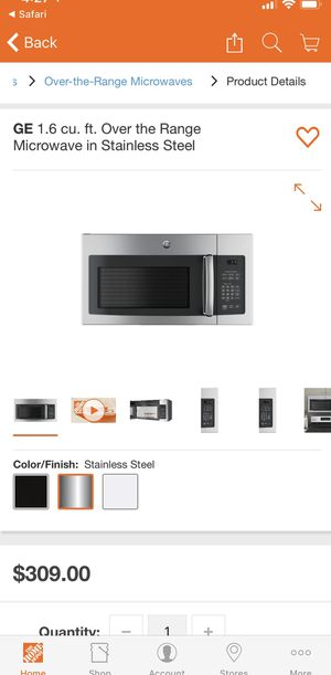 GE 1.6 cu ft Microwave- NEW IN BOX for Sale in Miami, FL