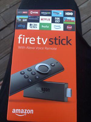 Brand New Amazon Fire TV Stick w/ Alexa Voice Remote for Sale in San Bruno, CA