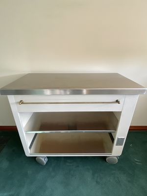 Kitchen Cart with a Stainless Steel Top and Shelves. for Sale in Bellevue, WA