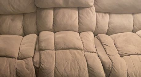 Two reclining Couches With Cup Holders. MOVING NEED GONE ASAP for Sale in Denver,  CO