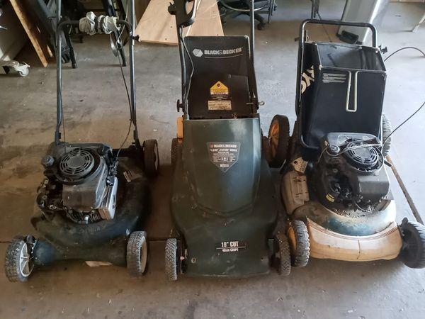 3 lawnmowers