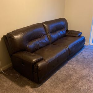 Leather Two Seat Couch With Automated Recliner for Sale in Happy Valley, OR