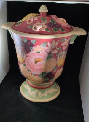 """Beautiful 14"""" Floral Jar Canister for Sale in Riverview, FL"""