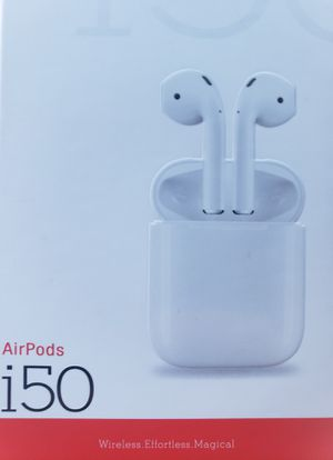 Airpods i50 Good For Samsung and iPhone Clear sound with built in mic touch control bluetooth 5.0 160mAh lithium polymer battery Noise Cancellation for Sale in Los Angeles, CA