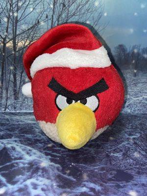 Angry Birds Christmas Red bird Plush Toy with Santa hat for Sale in Bellflower, CA